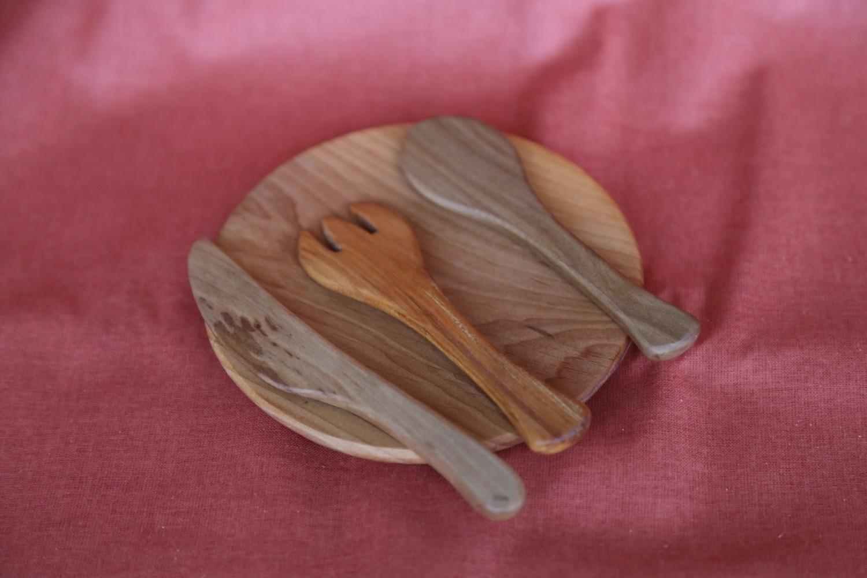 Набор деревянной посуды (тарелка с приборами), Древосвет