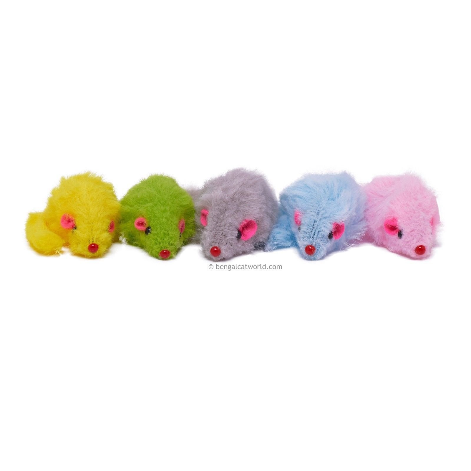 Mini Fleecy Rattle Mice (Pack of 5) BCW357