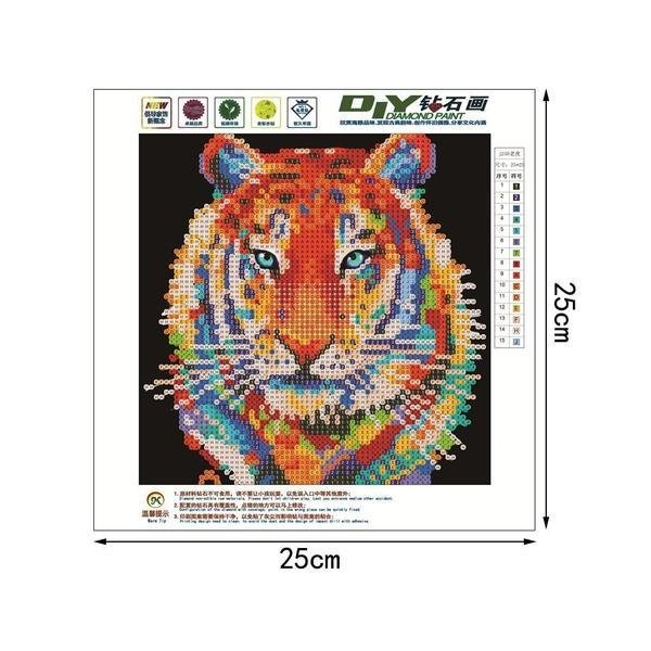 Colourful Tiger (base image)