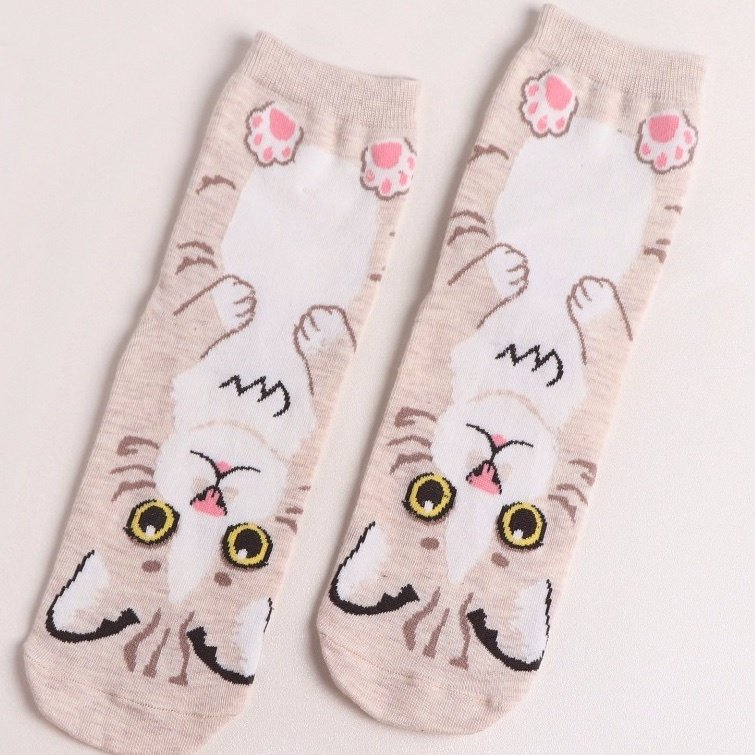 Sweet Kitty Pattern - Beige