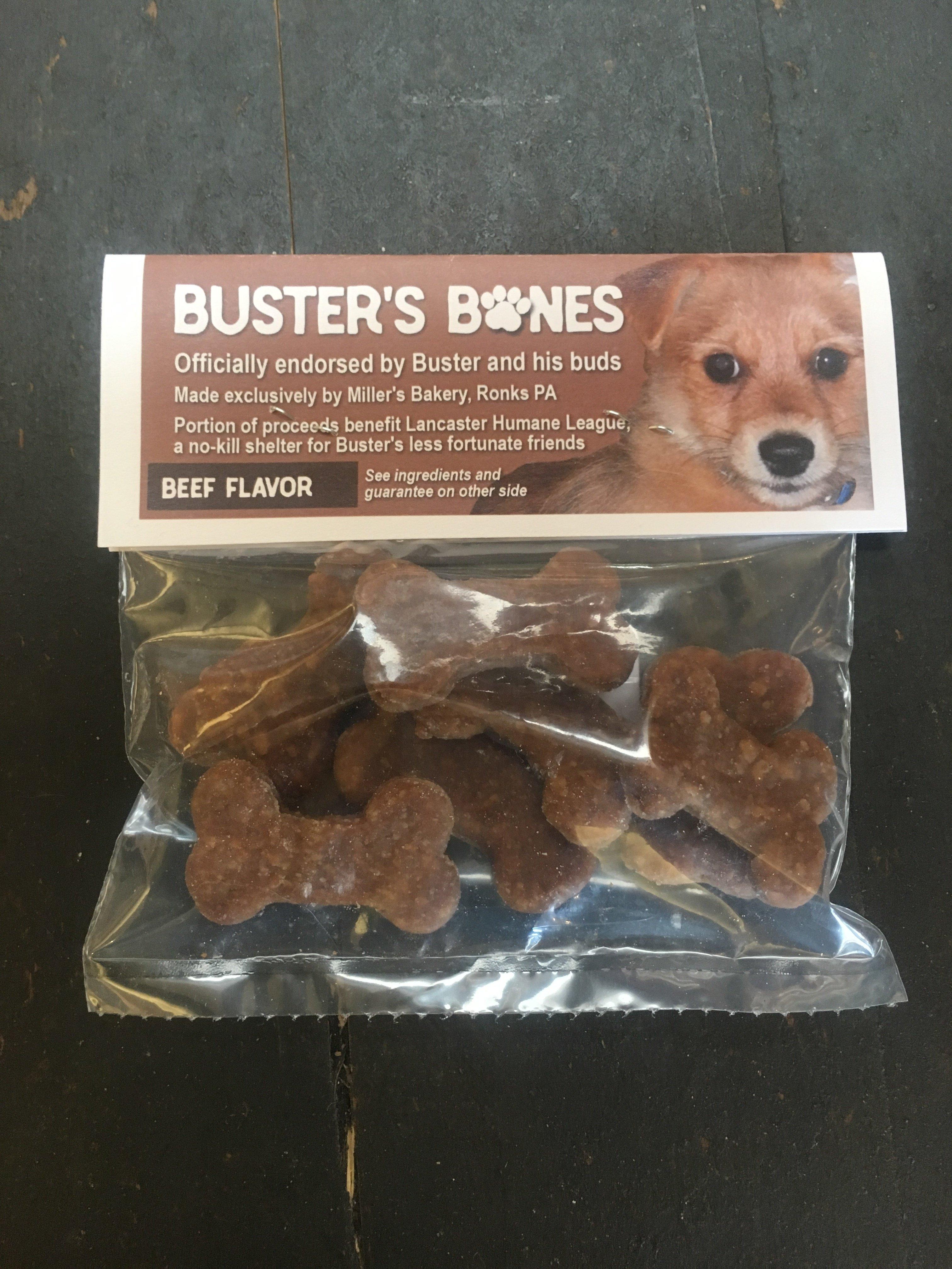 Buster's Bones Beef Dog Treat 00084