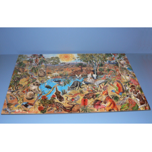 Wildlife Floor Jigsaw Puzzle 48 pieces 60 x 90 cm, hand made in Australia