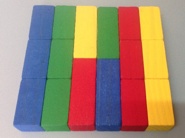 Baby Walker Blocks Hand made and stained wooden blocks