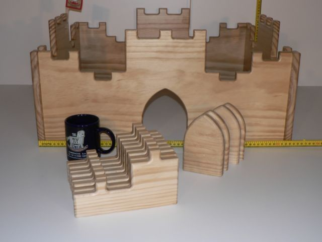 Castle hand crafted from wood in Australia