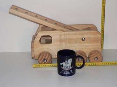 Fire Engine / Hand crafted from wood in Australia