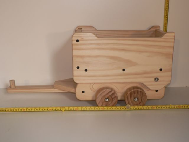 Large Dump Truck Trailer / Hand made from Wood