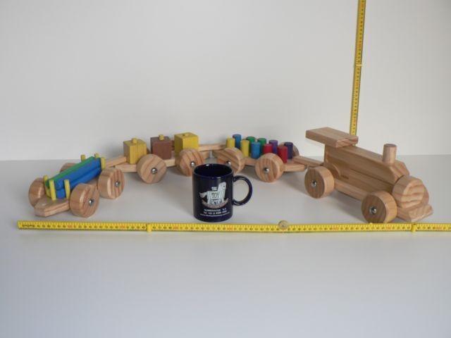 4 Piece Wooden Train Set Hand made in Australia