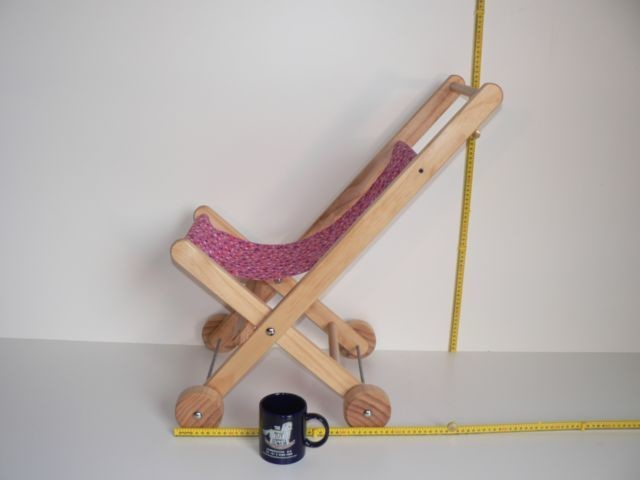 Dolls Material Stroller / Hand made from wood in Australia