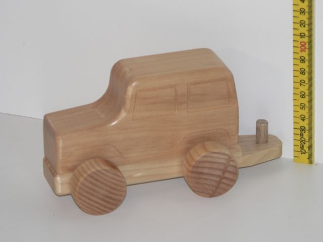 Small 4 Wheel Drive Kit hand made from wood in Australia
