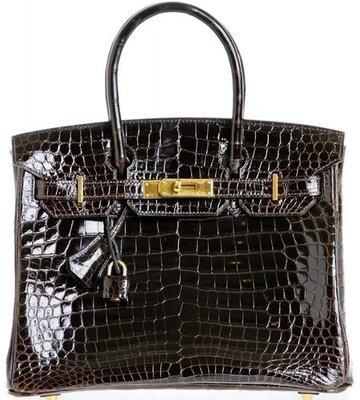 ccd45017da 30 cm Black Niloticus Crocodile Hermès Birkin Handbag (2004)