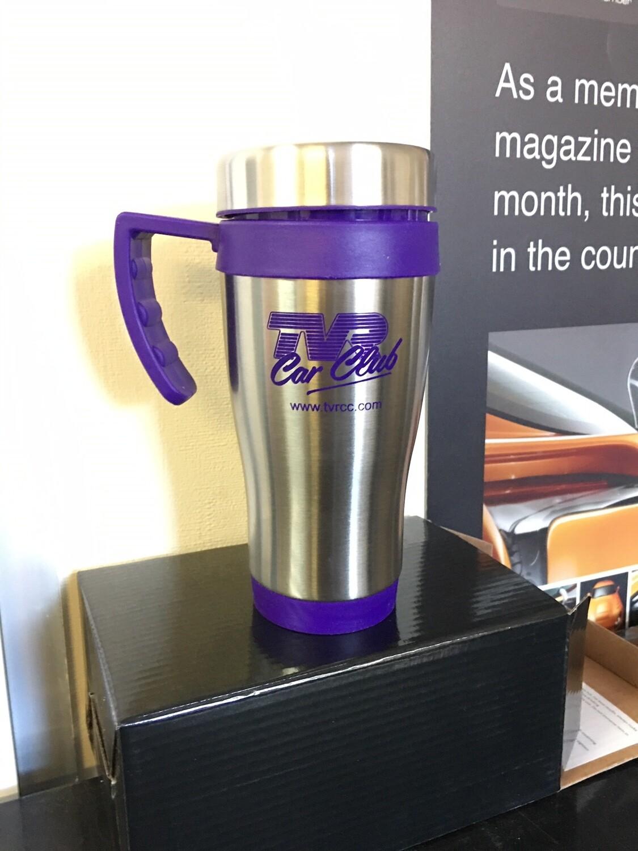 Thermal Travel Mug - Purple/Steel coloured