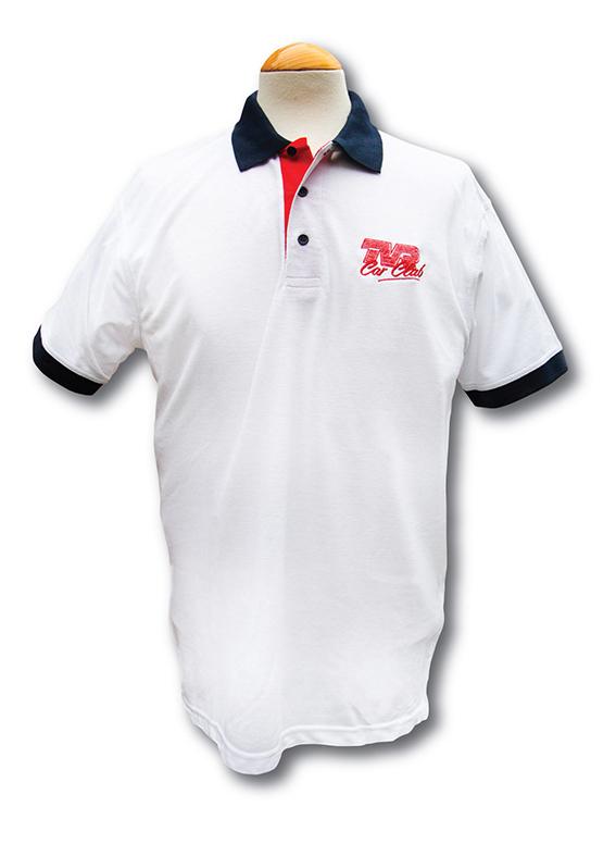 Contrast Polo Shirt with TVRCC logo