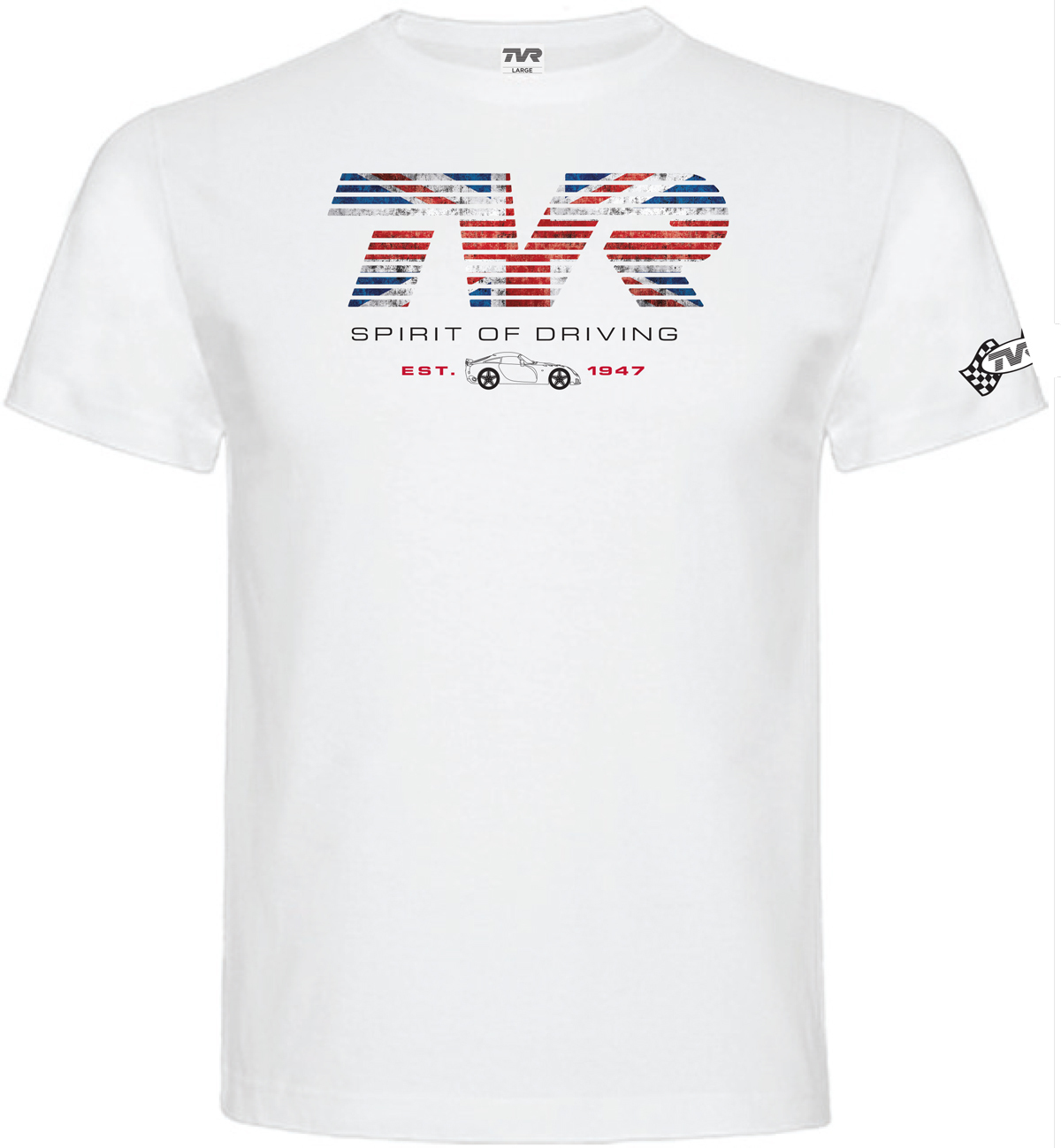 "TVR ""Spirit of Driving"" T-Shirt WHITE"