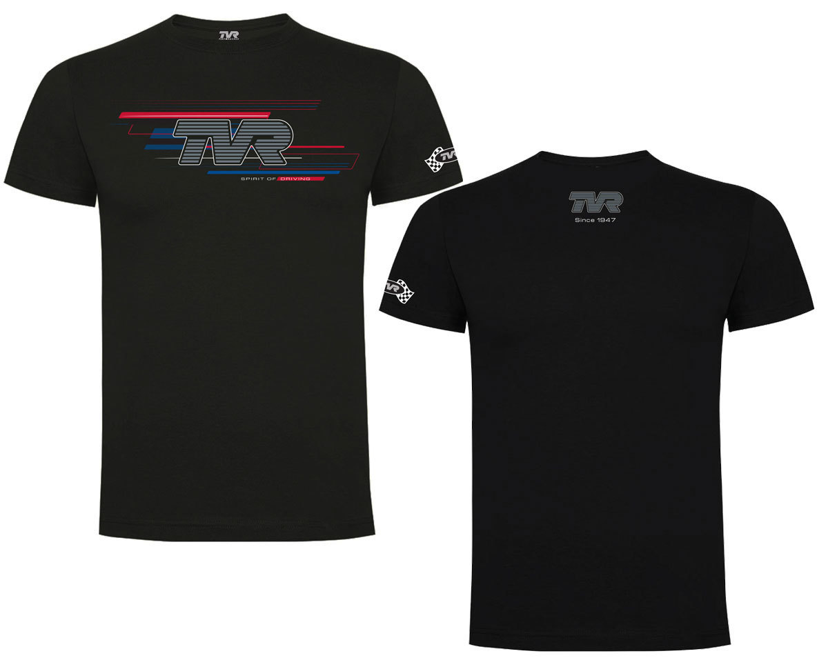 "TVR Logo ""Spirit of Driving"" T-Shirt BLACK"
