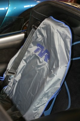 TVR Seat Cover in silver/blue
