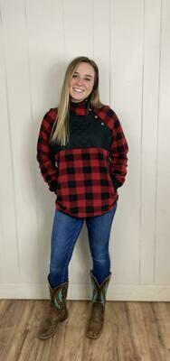 Sadie Plaid Pullover