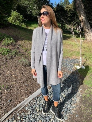 Michael Farrell Long Gray Sweater