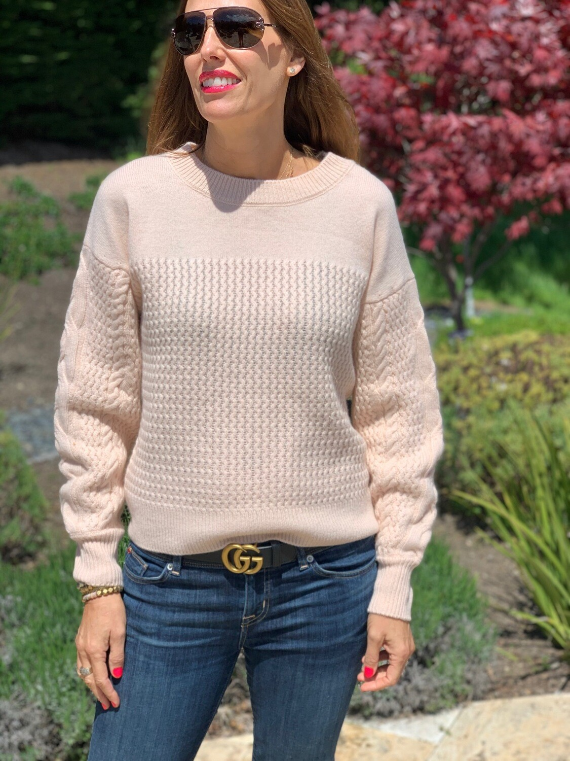 The Cashmere Project Powder Pink Sweater