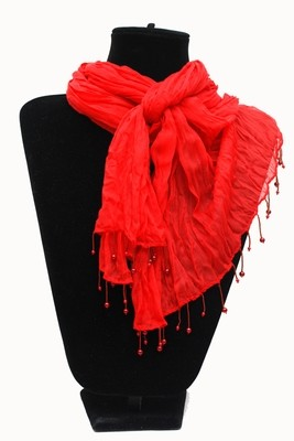Red Plain Colored Scarf