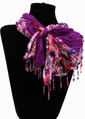 Purple with Pink Scarf