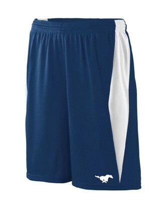 Boys blue mesh basketball short - SMALL