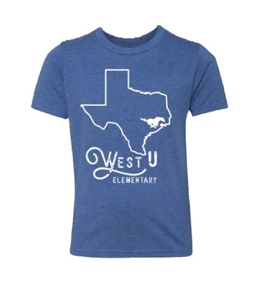 Adult Blue Texas Home Triblend Tee - SMALL