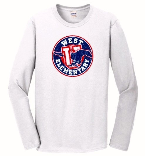 White Long Sleeve YOUTH SMALL