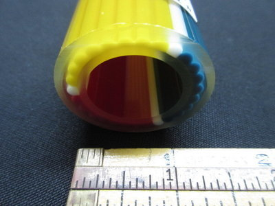 Red, Yellow and Blue with White Accent Vac Stack Lined Tubing with Illuminati Stringers (#3032 14.8oz)