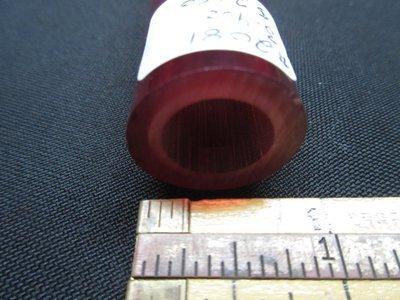 Pomegranate over Slyrm Double Layer Boro Tubing (#2081 3.4oz ODD)