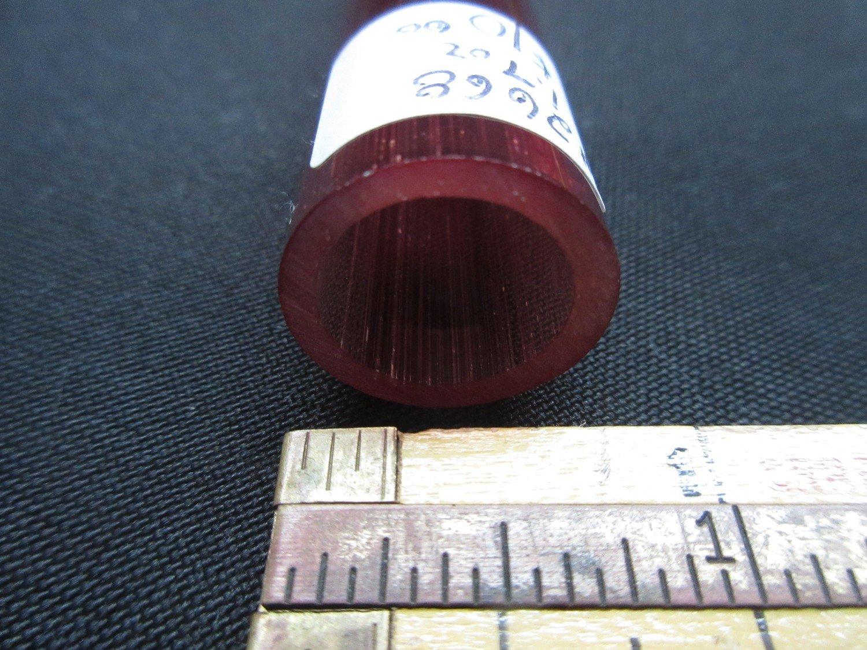 Pomegranate over Slyrm Double Layer Boro Tubing (#2668 1.7oz  SECONDS)
