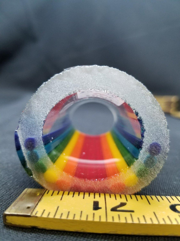 Rainbow Fade to Clear w/ Illuminati Stringers Vac Stack ODD ( #2697 3.5 oz)
