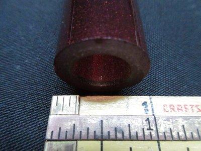 Pomegranate over Disco Sparkle Double Layer Boro Tubing (#4058 3.1oz ODD)