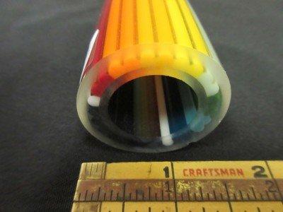 Rainbow to Disco Sparkle Vac Stack Lined Boro Tubing w/ Disco Sparkle Stringers (#1023 6.4oz)