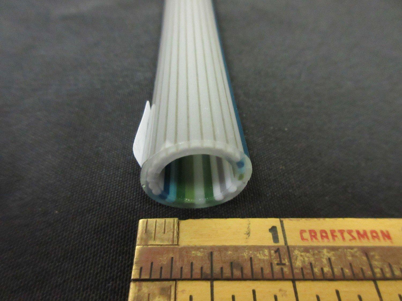 Earth Fade to Oregon Gray Vac Stack Lined Boro Tubing w/ Disco Sparkle Stringers ODD (#5053 1.9oz)