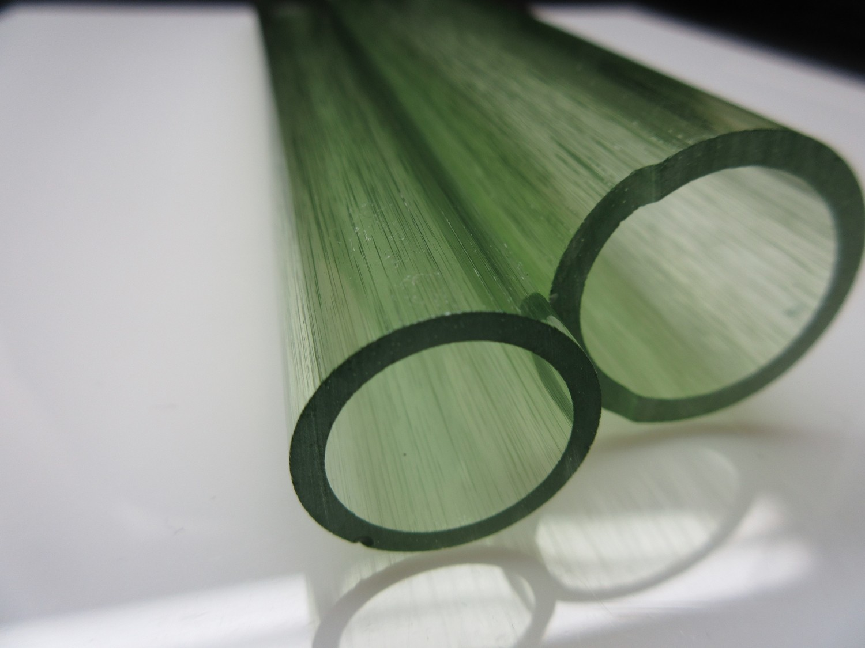 Key Lime Green UV Reactive Boro Tubing (SECONDS)