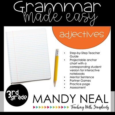 Third Grade Grammar Activities (Adjectives)