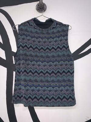 Glitter Zigzag Knitted Top