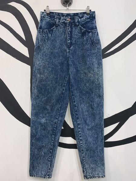 Women's Acid Wash High Waisted Jeans