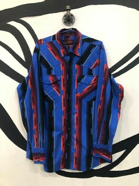 Men's Tribal Button Up Shirt