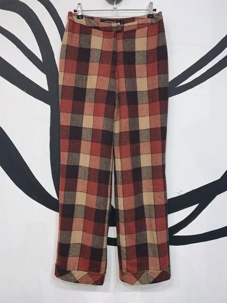 Women's Gingham Print Trousers