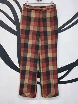 Women's Gingham Print Trousers