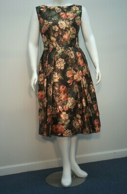 Floral Metallic Special Occasion Dress