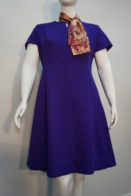 Lorac Vintage Purple Dress with attached Scarf