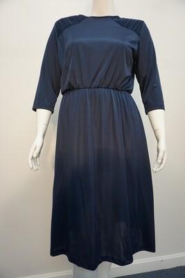 Vintage Navy Dress with shoulder pads