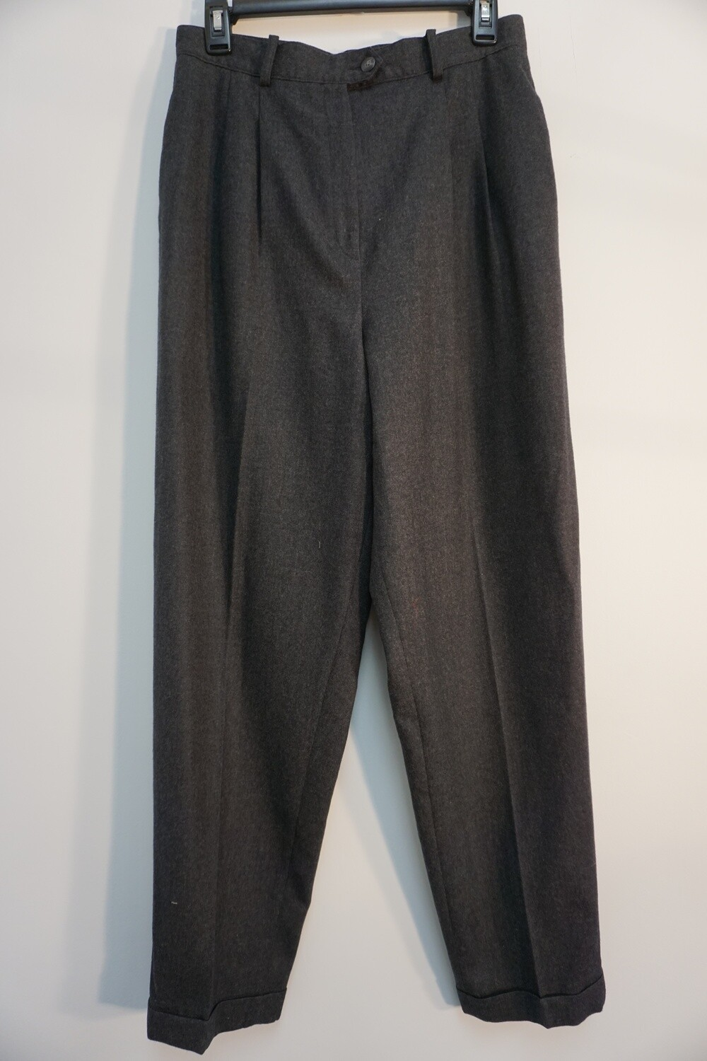 Lands End Pleated Wool Trousers
