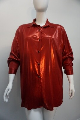 Red Shimmer Blouse