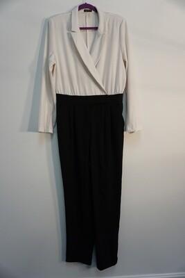 Cream and Black Jumpsuit