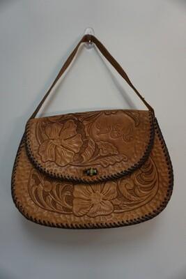 Vintage floral print purse