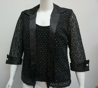Black Blazer with Attached Tank Top