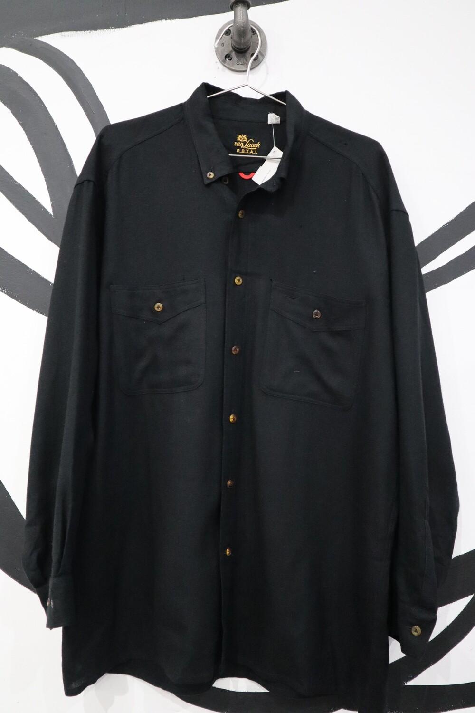Van Laack Black Lambswool Button-Up - Men's L